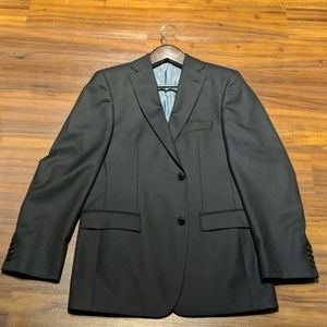 Hugo Boss Navy Virgin Wool Sports Coat Size 40L.